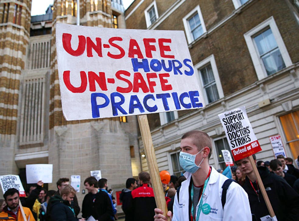 Junior Doctors protest outside the Department of Health
