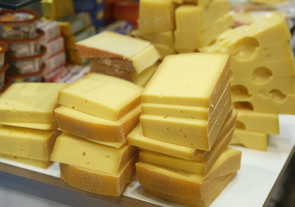 man rescued after becoming buried under cheddar and red leicester