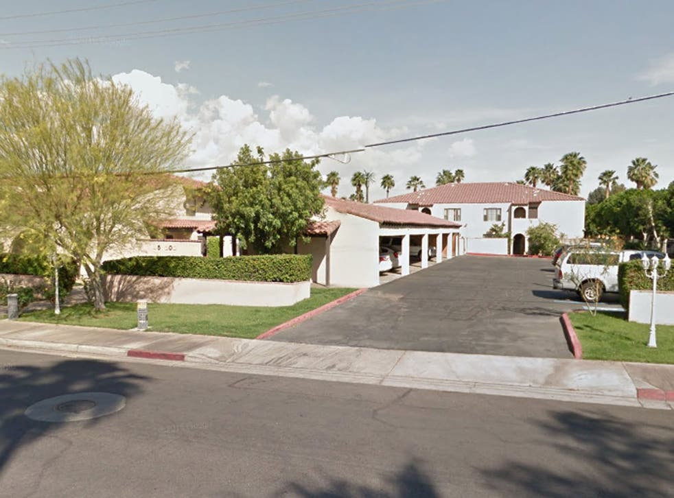 The apartment complex on Deep Canyon Road, Palm Springs, from which Ms Heller is reportedly being evicted from