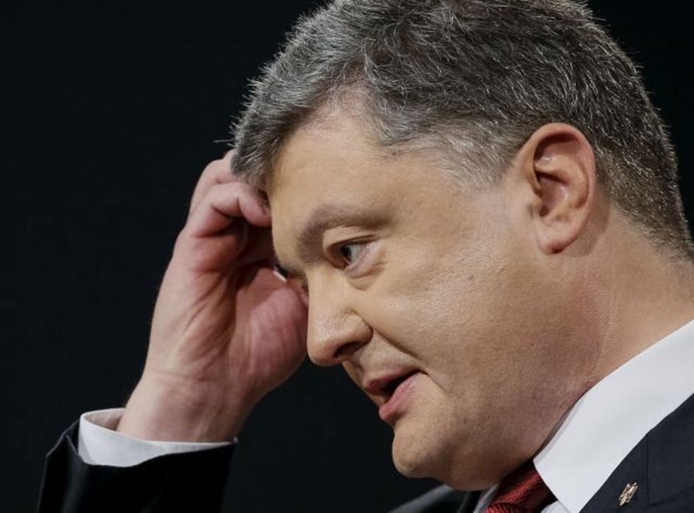 Ukrainian President Poroshenko has been promoted by the EU and the US as an anti-corruption champion