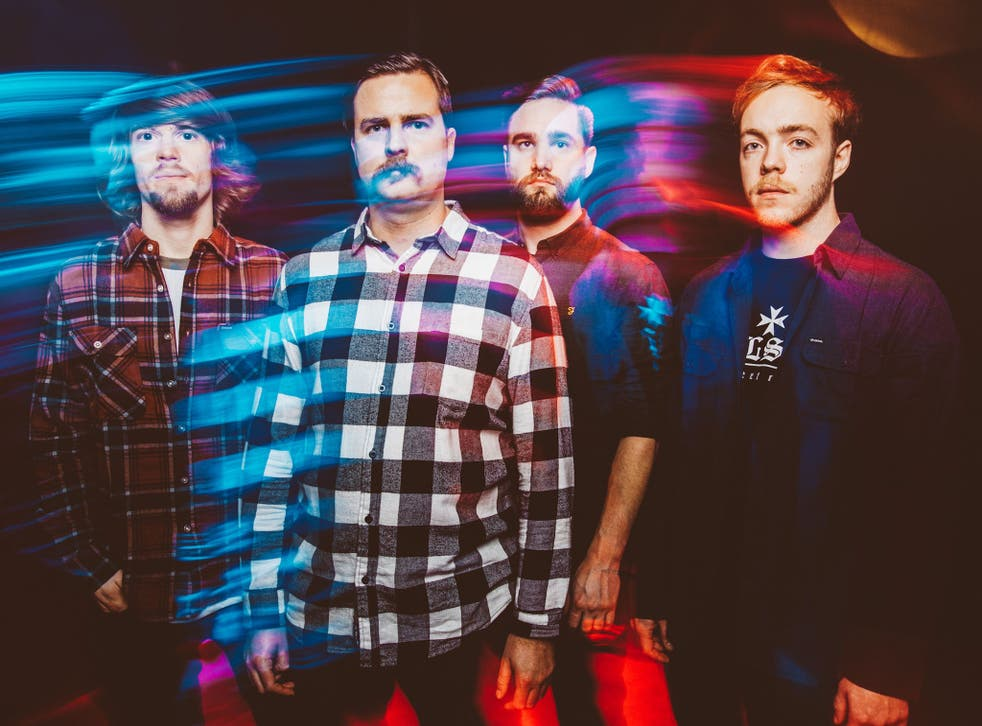 Black Peaks, from left to right, Liam Kearley