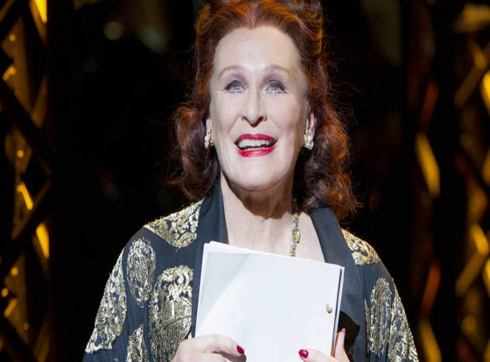 Glenn Close plays Norma Desmond in the English National Opera's production of Sunset Boulevard