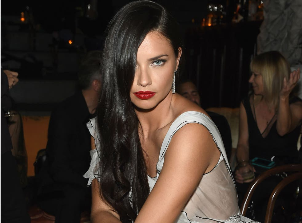 Adriana Lima has dismissed 'negative' reports of a rivalry between her and Victoria's Secret models