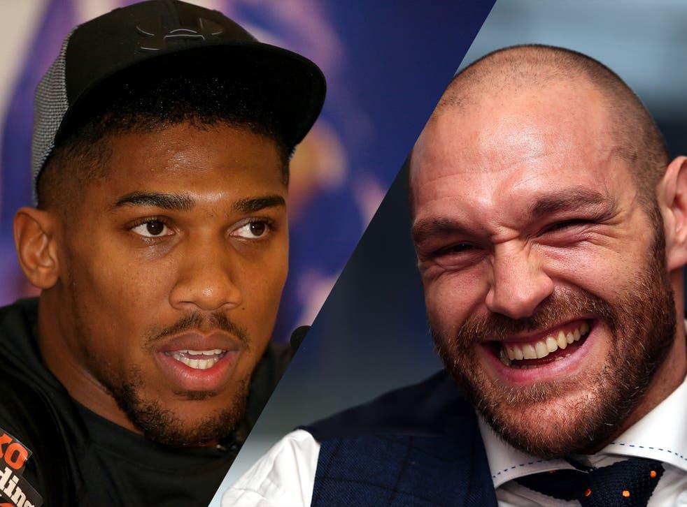 British heavyweights Anthony Joshua and Tyson Fury