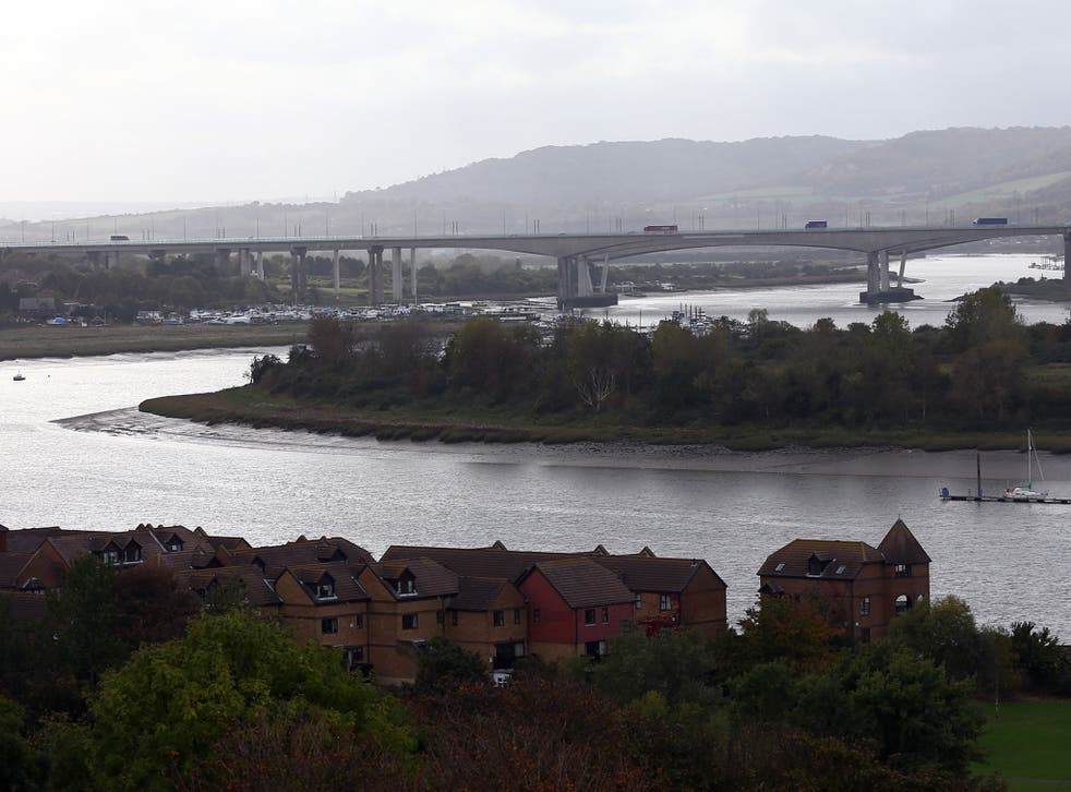 The man's kayak was found drifting on the River Medway