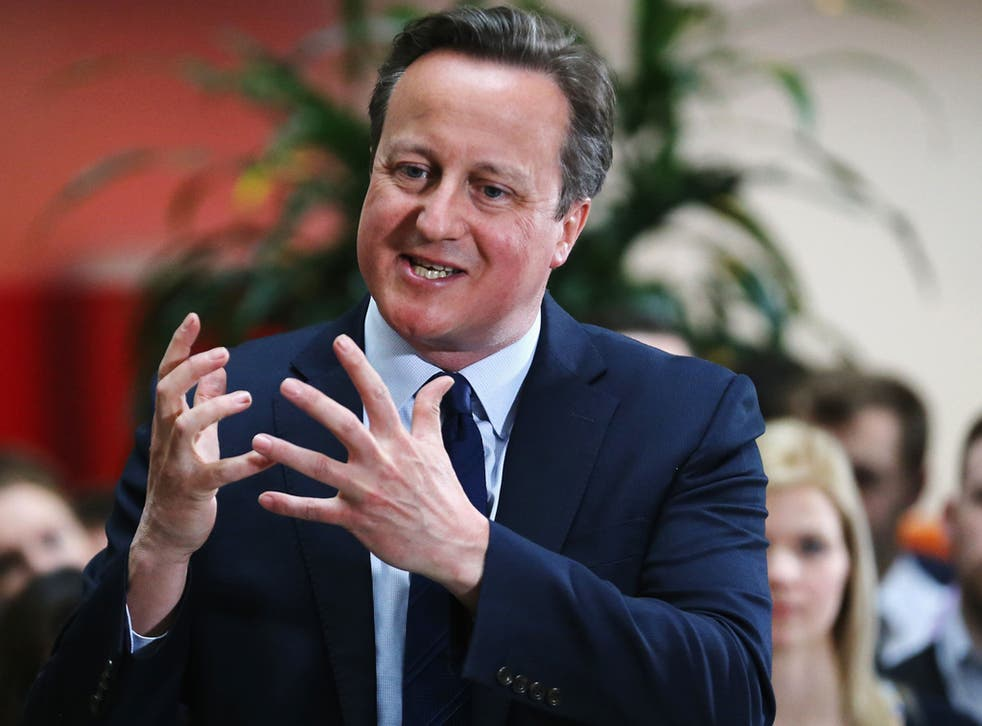 'Time to go, Cameron - we'll see you out'