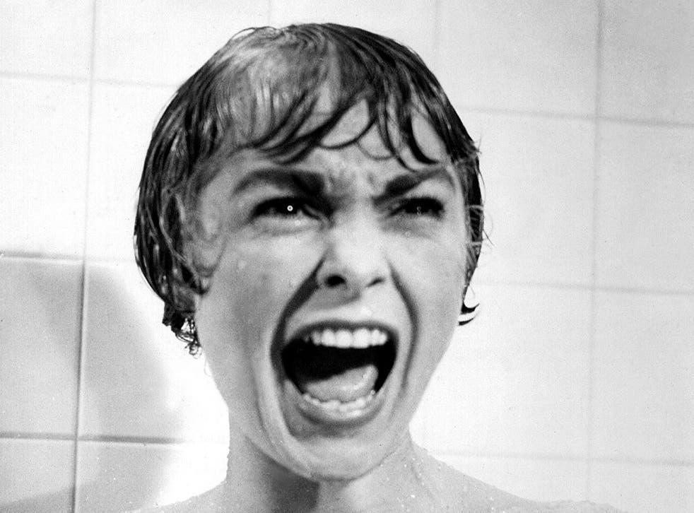 Horrifying: Janet Leigh in Psycho's infamous shower scene