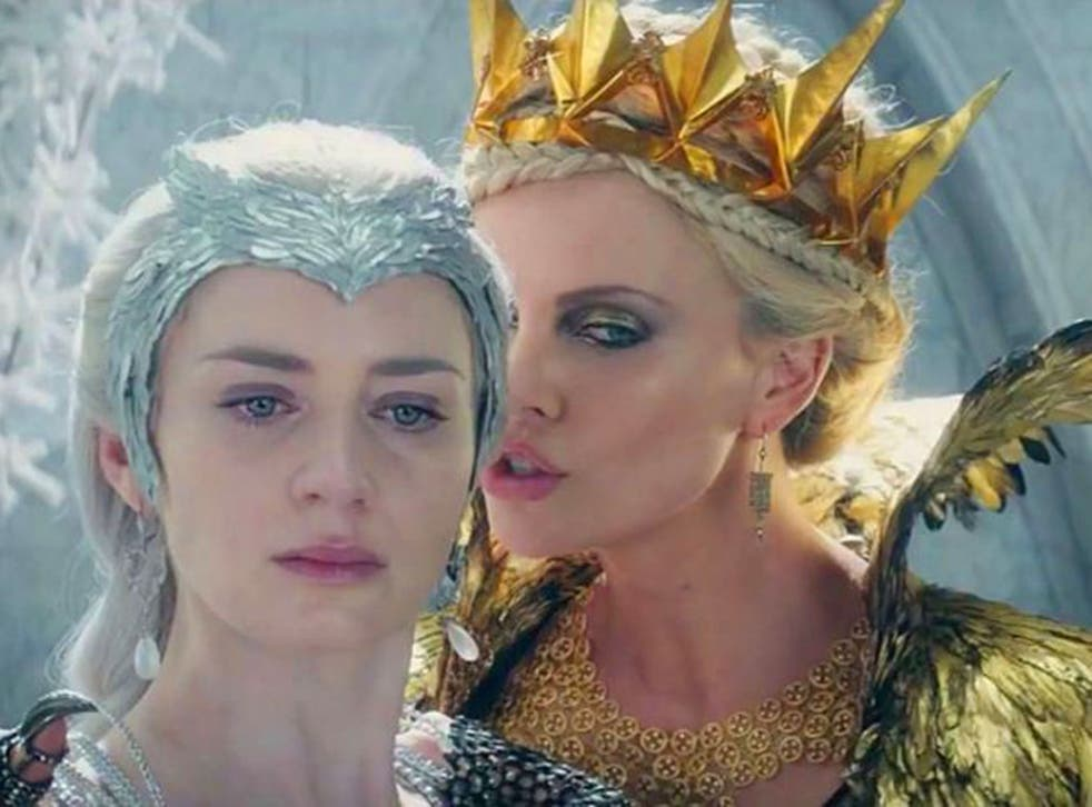 Emily Blunt stars as Freya, The Ice Queen and Charlize Theron plays her evil sister Ravenna
