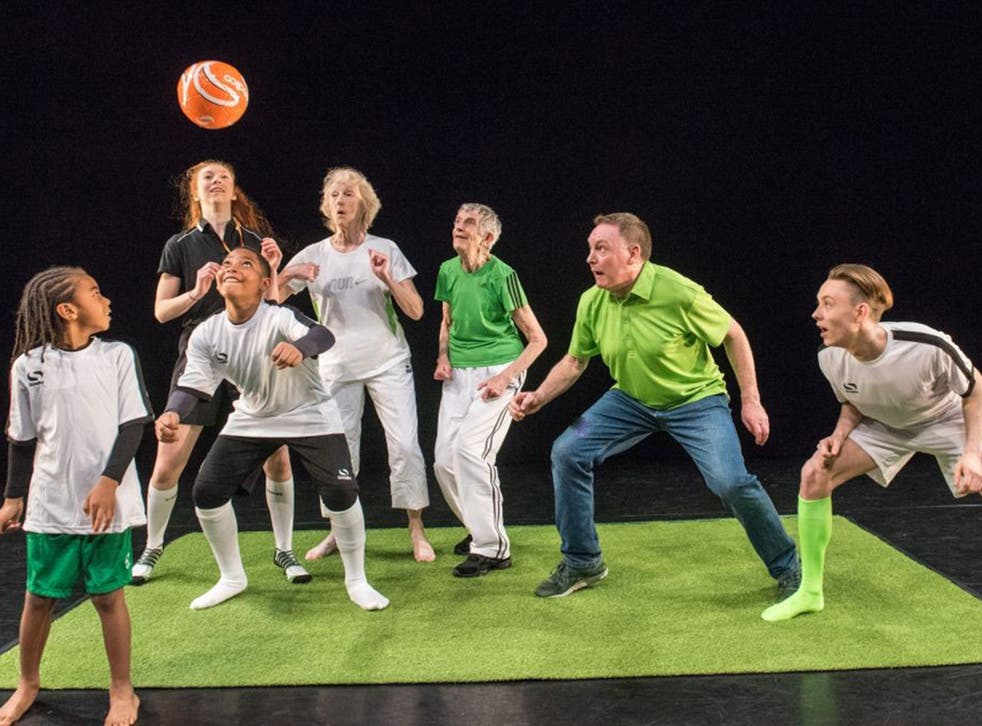 The football-themed community dance production will be performed by a team incorporating both professional and non-professional dancers