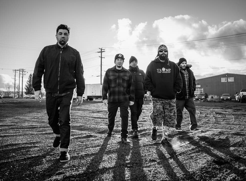 Deftones in 2016, from left to right, Chino Moreno