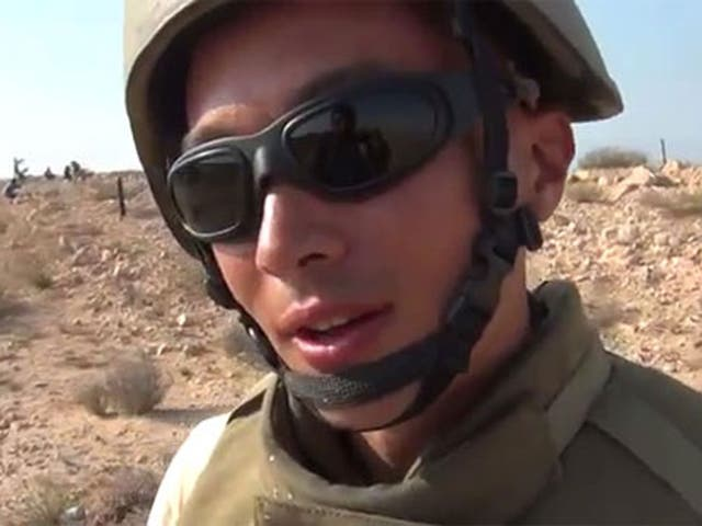 A man purported to be Kevin Dawes in a video filmed in Libya in 2011