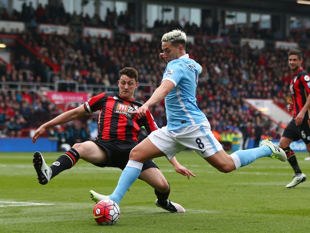 Samir Nasri in action for Manchester City at Bournemouth