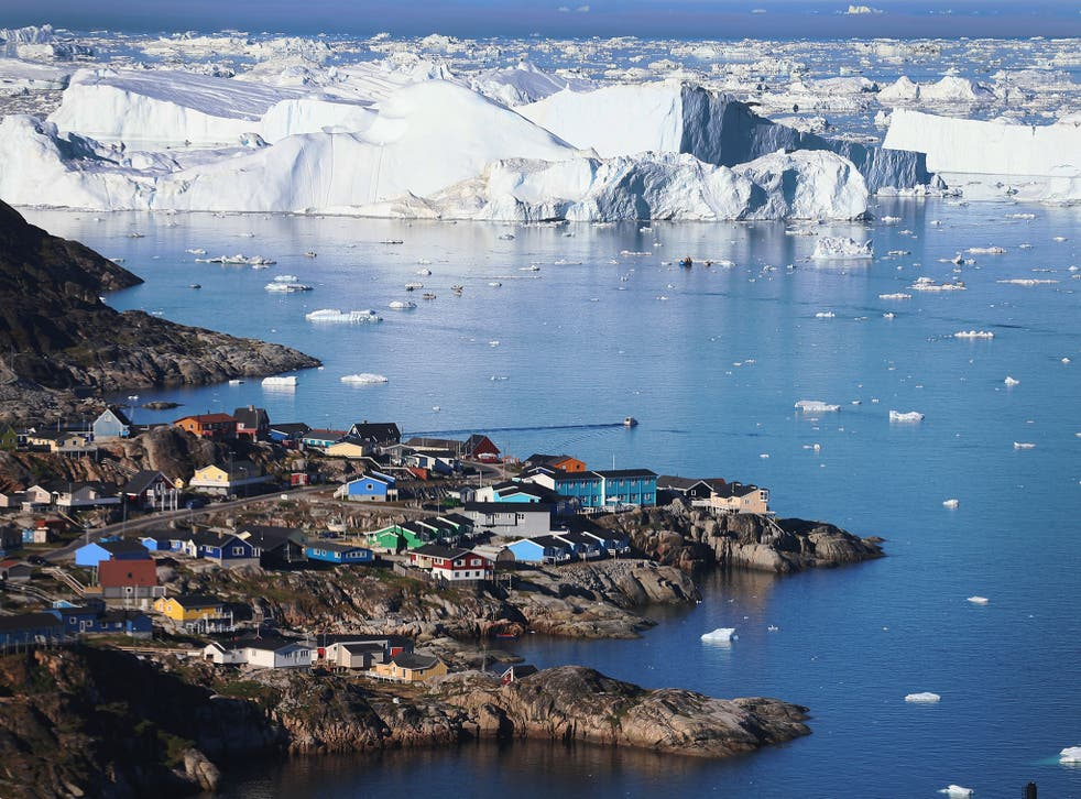 The Greenland Ice Sheet is melting at a rate of 250 gigatonnes a year