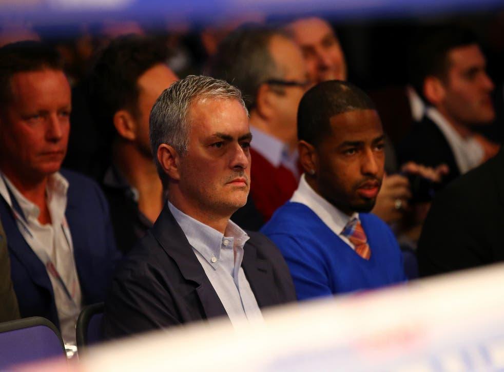 Jose Mourinho at the o2 Arena for Anthony Joshua vs Charles Martin