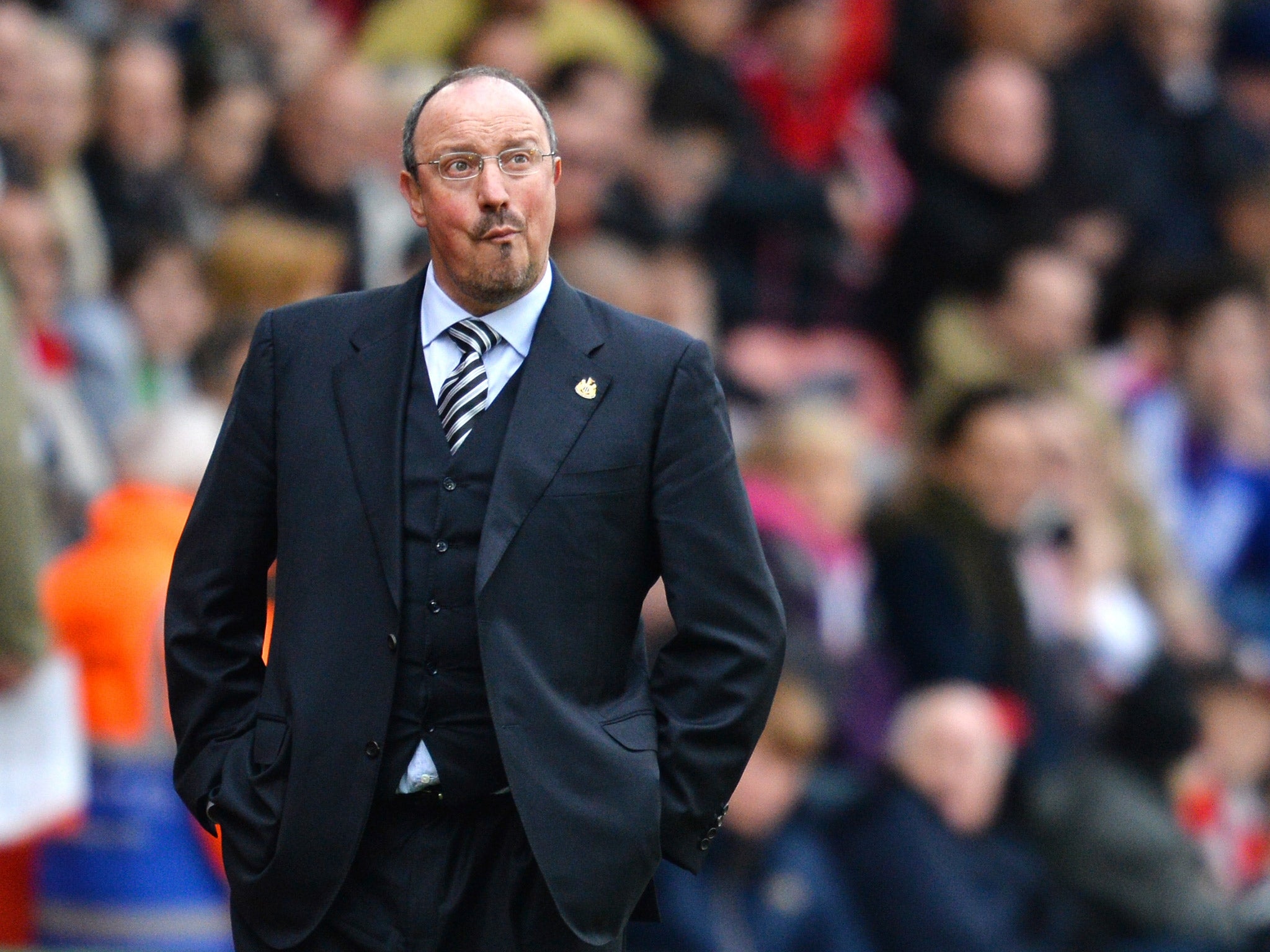 rafa benitez could remain at newcastle united despite relegation to championship the independent