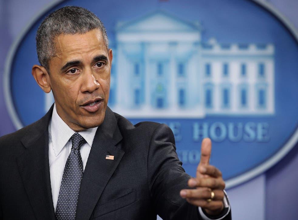 President Obama addresses the media on April 5.