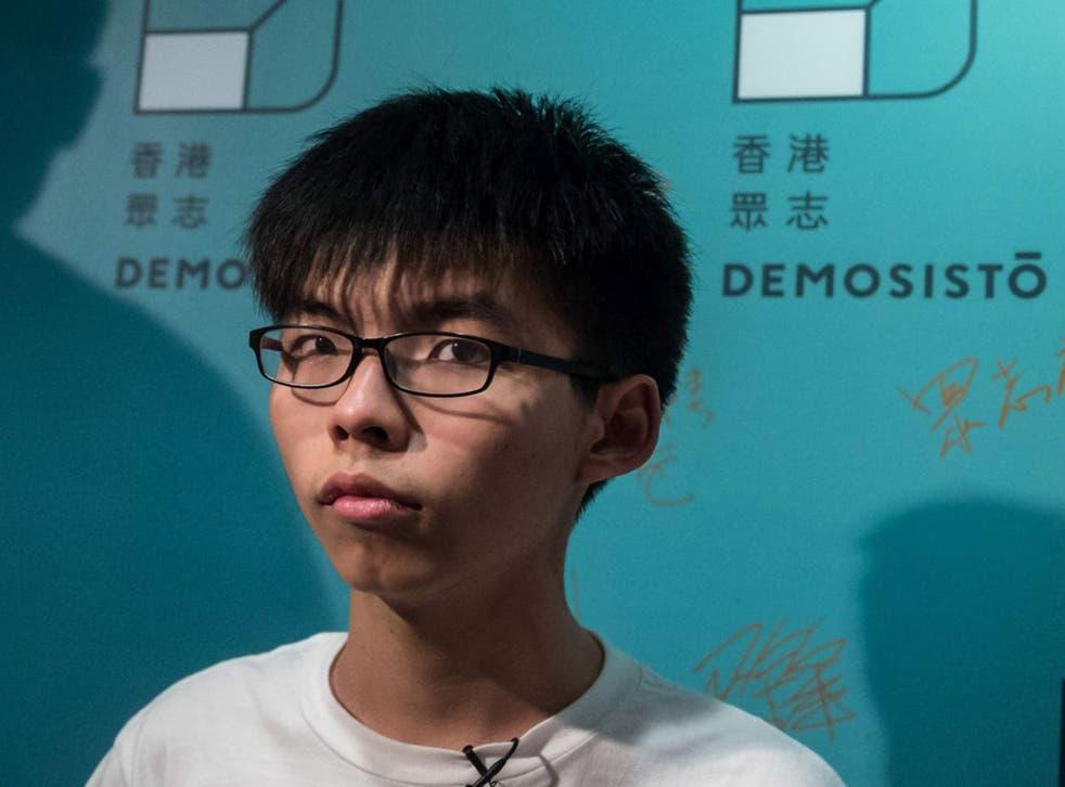 Joshua Wong is general secretary of Demosisto
