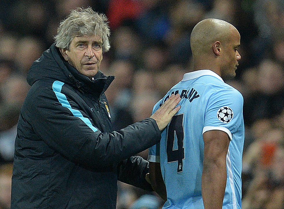 Kompany leaves the field during last month's round-of-16 second leg against Dyanmo Kiev