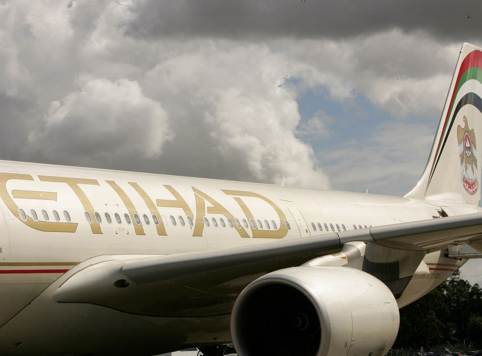 An Etihad Airways plane