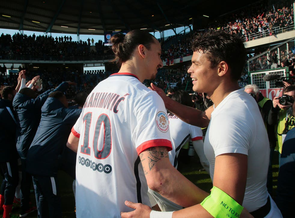 Thiago Silva has urged Zlatan Ibrahimovic not to leave PSG