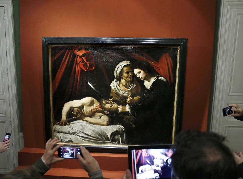 Experts are divided on whether the painting, 'Judith Beheading Holofernes', was created by Caravaggio