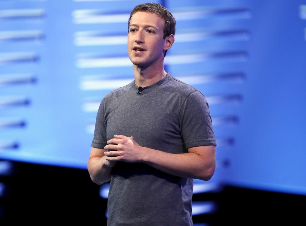 Mark Zuckerberg addresses the F8 Facebook developer conference in San Francisco yesterday