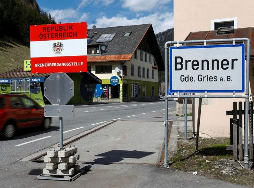 Austrian police say they have begun pouring concrete for foundations of a registration hall, barriers and other structures at Brenner, on the Italian-Austrian border