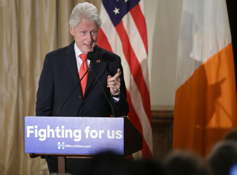 Mr Clinton said his wife will 'work hard' for the people