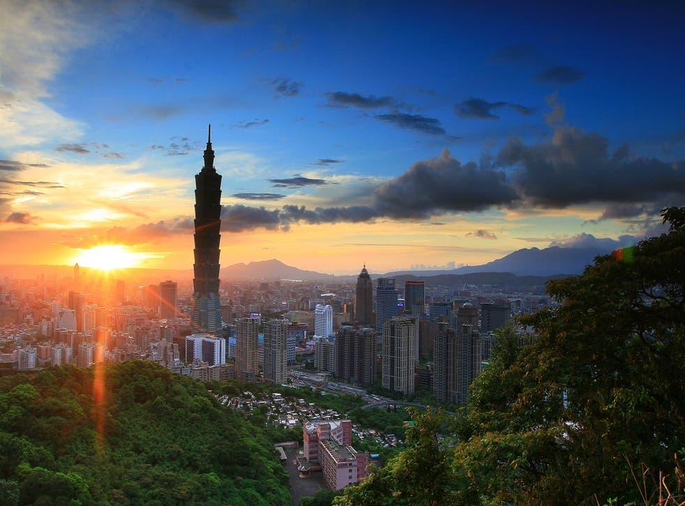 Taipei 101 towers over the city