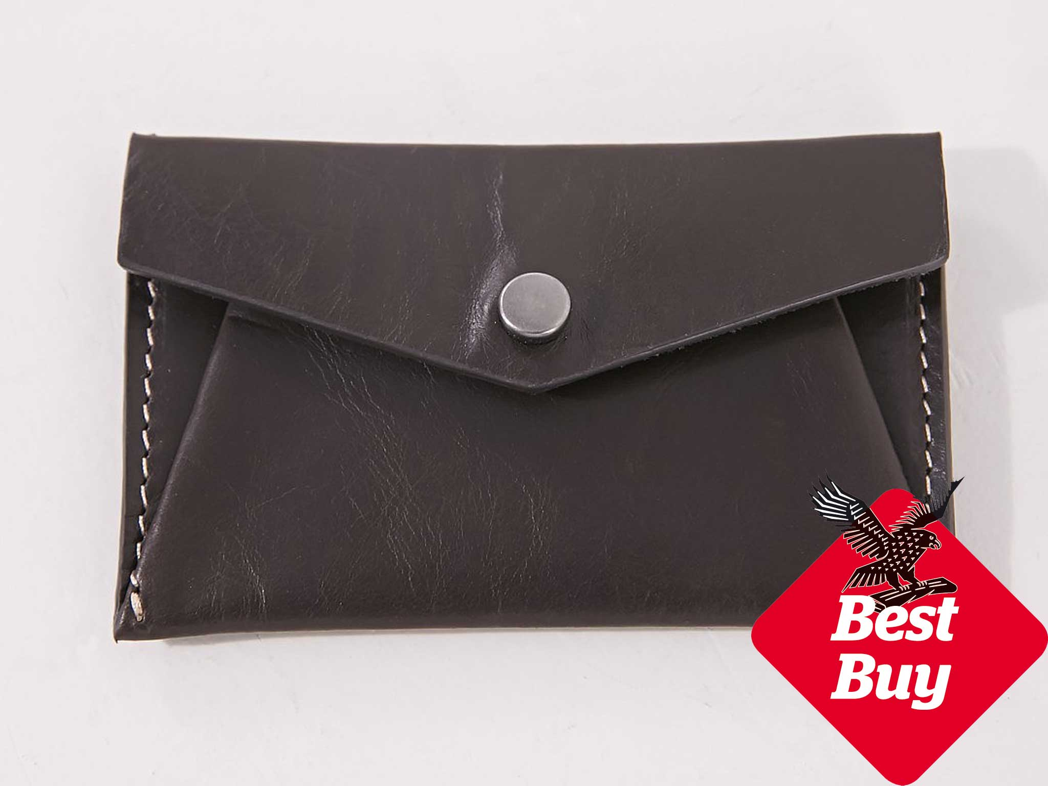 10 best mens card holders the independent its a chocolate brown leather envelope with contrasting stich detail inside theres just one compartment to stash reheart