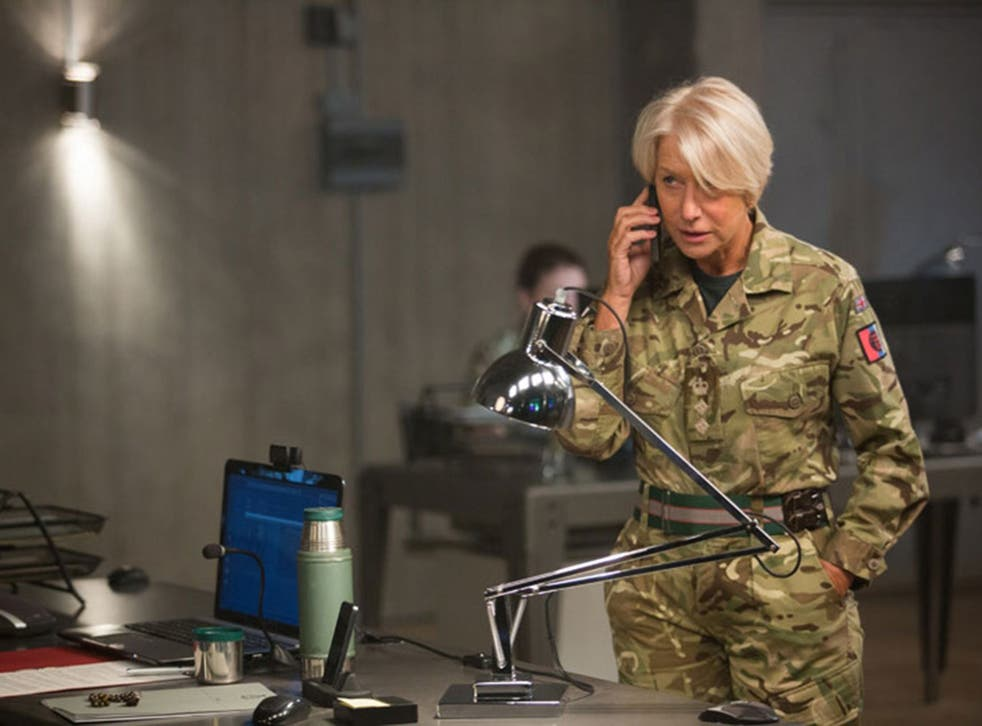 Helen Mirren plays Col. Katherine Powell, a military officer in command of an operation to capture terrorists in Kenya