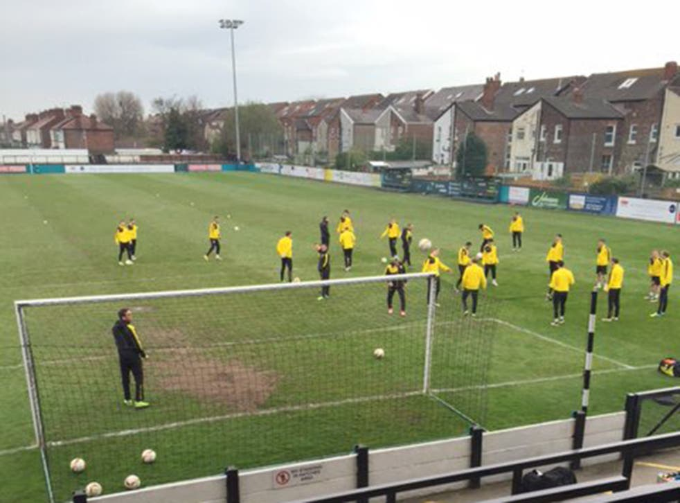 Dortmund's players are put through their paces at the Arriva Stadium