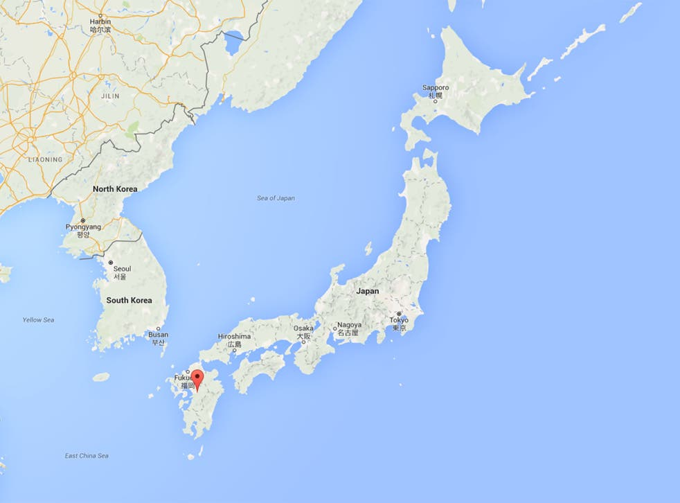 The earthquake hit close to the town of Mashiki, in the Kumamoto district
