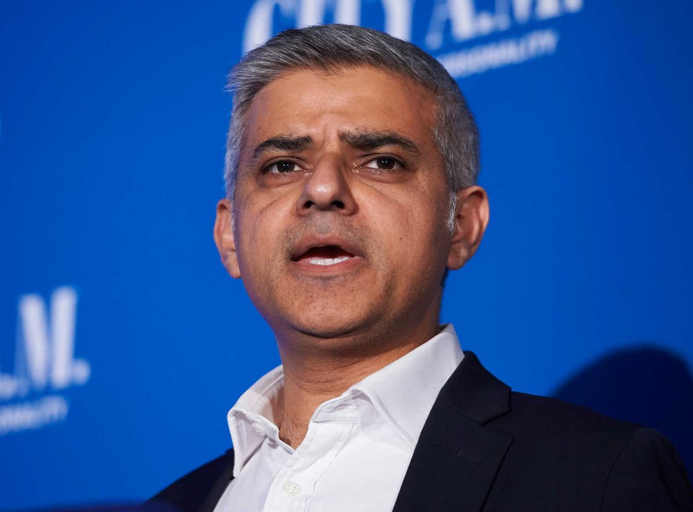 Labour Mayor of London candidate Sadiq Khan