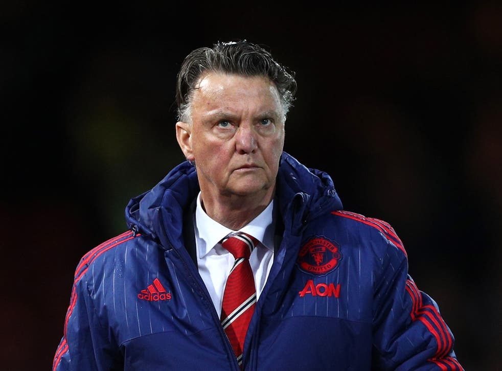 Manchester United manager Louis van Gaal reacts on the touchline