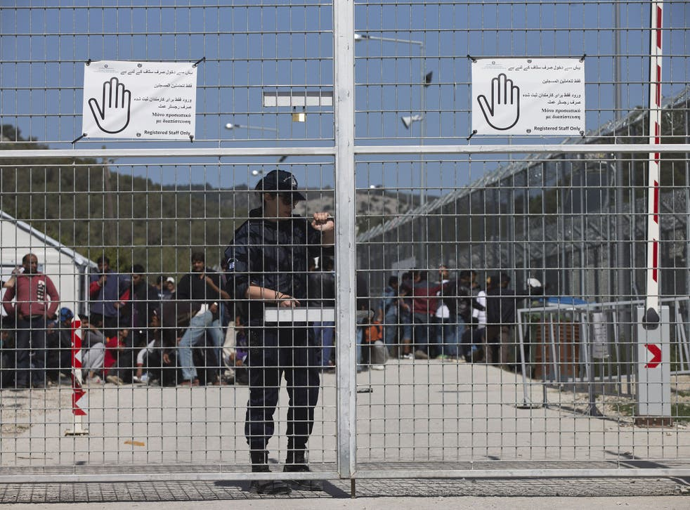 The Moria refugee camp was turned into a detention centre as part of the EU-Turkey deal