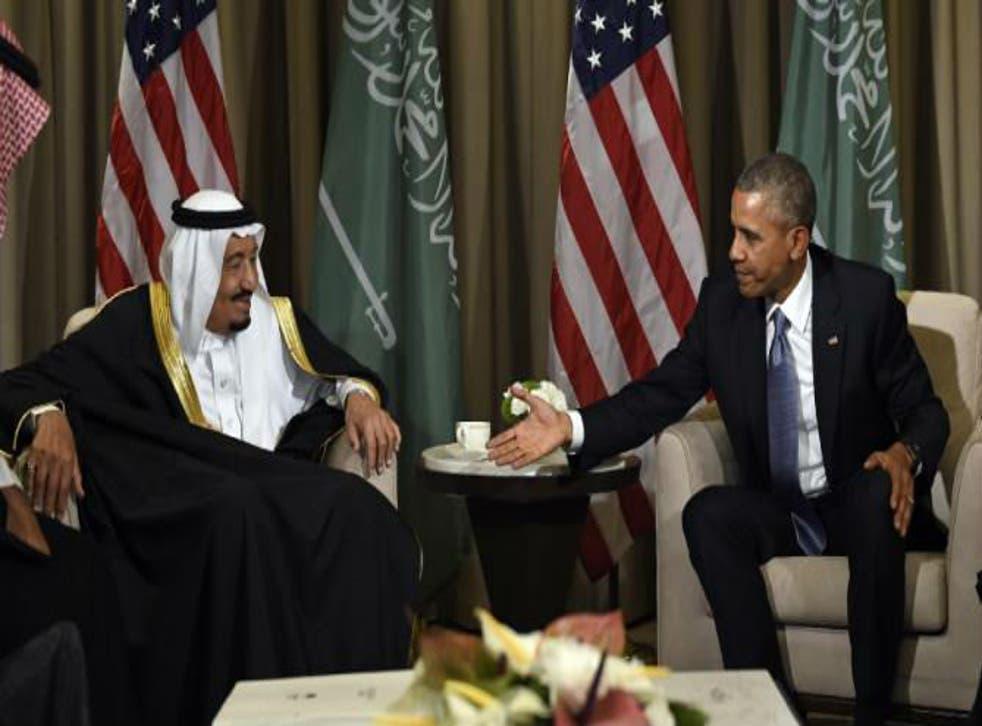 Mr Obama will hold talks with King Salman in Saudi Arabia