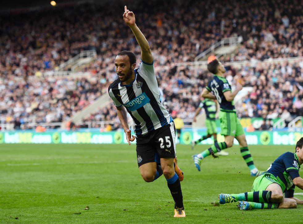Townsend celebrates for Newcastle