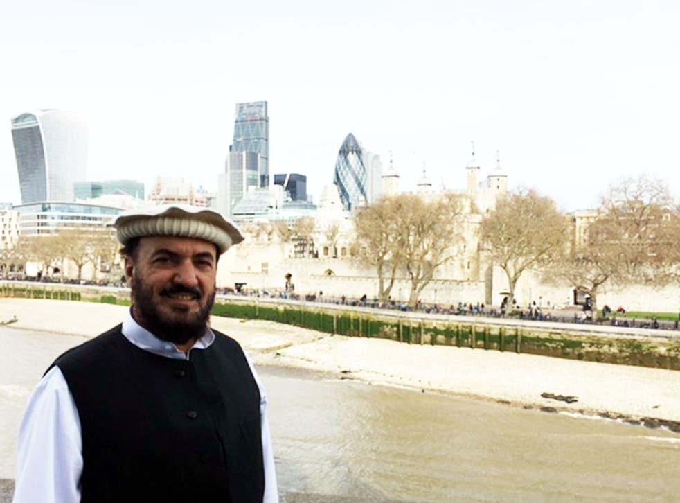 Malik Jalal during his visit to London in April 2016