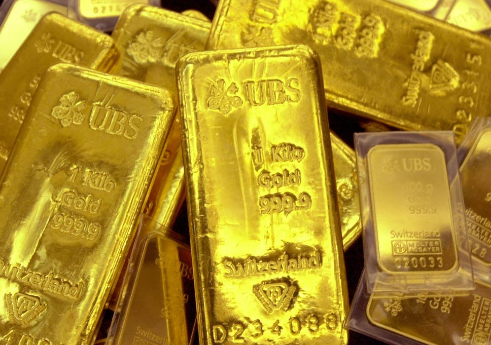 Gold Bars In A Vault At Shinhan Bank Seoul South Korea