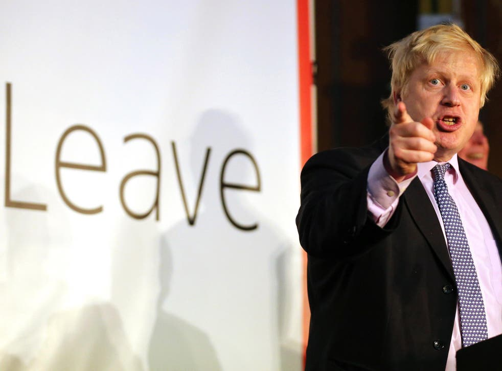 Mr Johnson, pictured, had originally been invited to speak about the EU referendum at the university