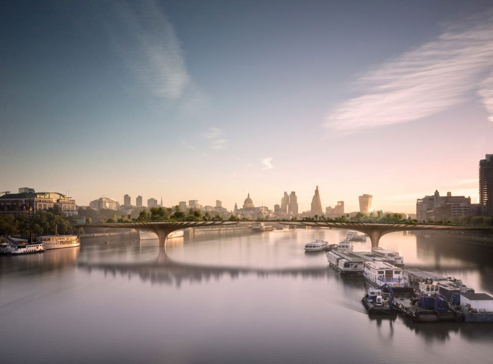 Plans to construct the bridge, spanning the Thames between the Embankment and Temple, were scrapped in 2017