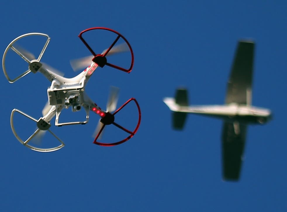 Pilots have warned that the risk of collision between an aircraft and drones is 'unacceptably high' (stock image)