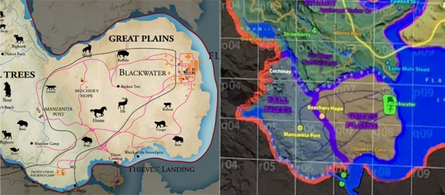 Red Dead Redemption Us Map.Red Dead Redemption 2 Map For Prequel Reportedly Leaks The