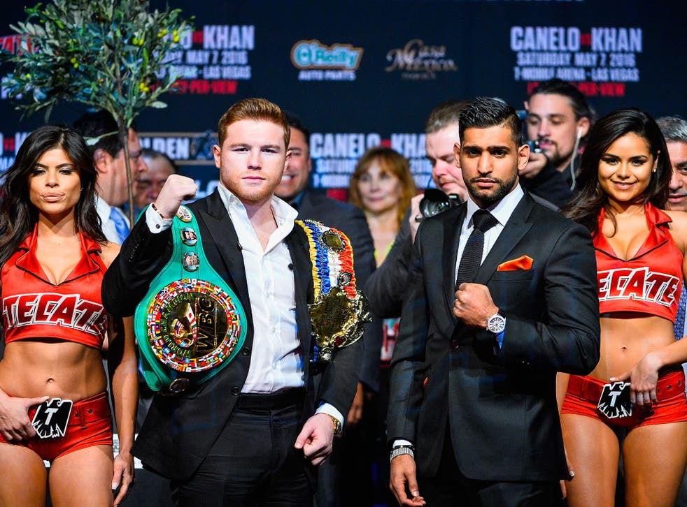 Saul Alvarez and Amir Khan fight for the WBC middleweight title in Las Vegas tonight