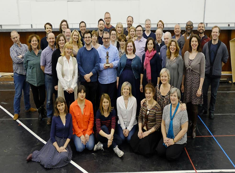 ENO Chorus with their Olivier Award