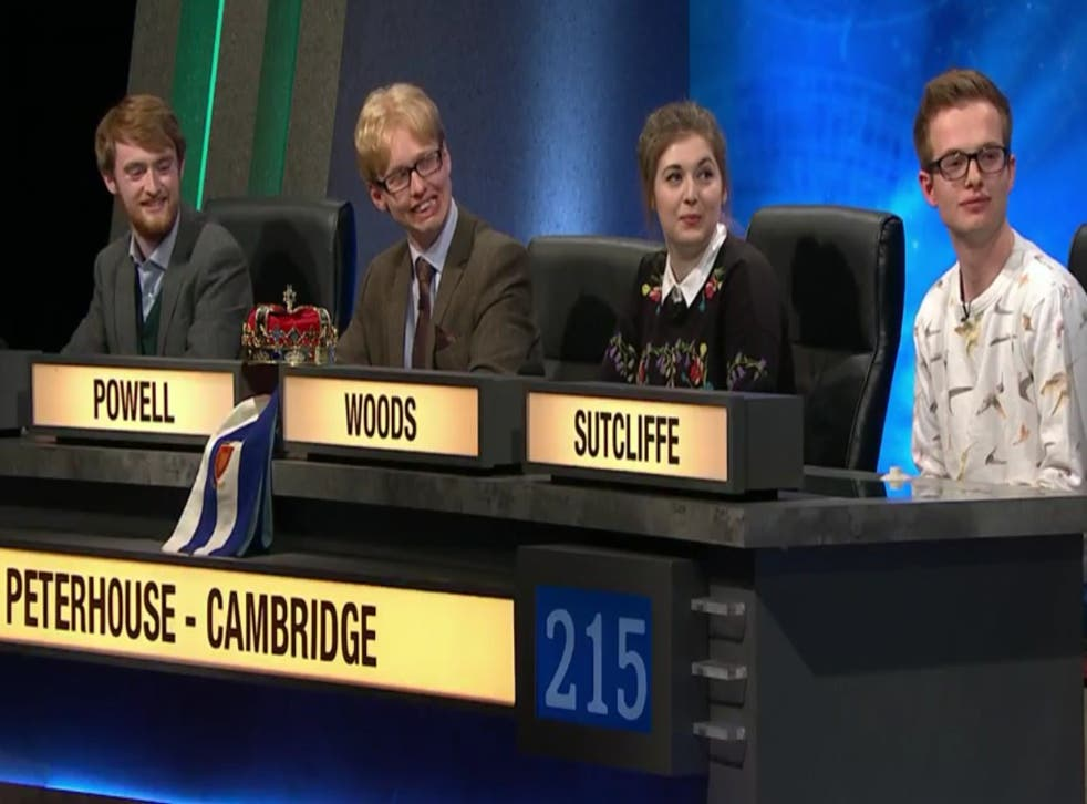 The Cambridge team, pictured, after being announced the winners