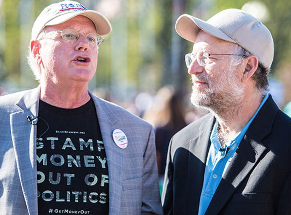 The 65-year-olds were part of a large group of protesters at Capitol Hill
