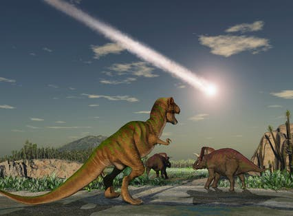 Dinosaurs were wiped out by an asteroid strike 66 million years ago