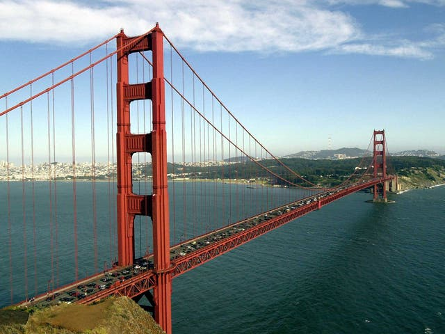 <p>The Golden Gate Bridge, San Francisco</p>